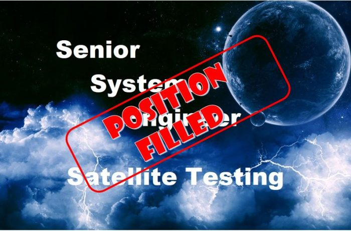 Senior Systems Engineer for Satellite Testing