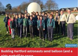 Scouts launch balloon to the edge of space