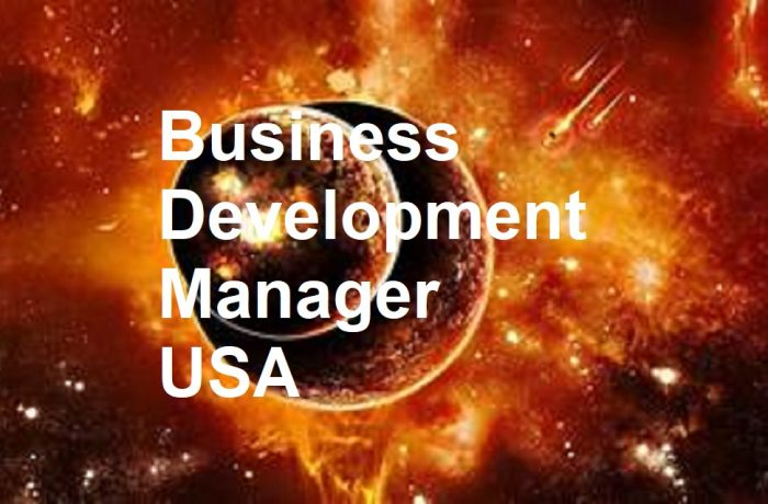 Business Development Manager/General Manager – USA